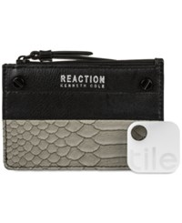 Kenneth Cole Reaction Rfid Key Coin Purse With Tracker Grey Snake