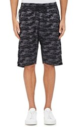 Nlst Men's Camouflage Jacquard Basketball Shorts Black