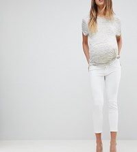 Dl1961 Maternity Florence Crop Skinny Jean White