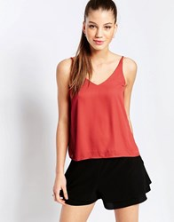 Glamorous Strappy Cami Top Rust Red