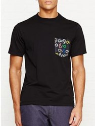 Paul Smith Ps By Paisley Pocket T Shirt Black