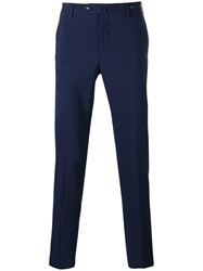 Pt01 Cropped Skinny Trousers Blue