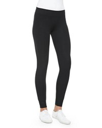 Atm Anthony Thomas Melillo Full Length Double Layer Yoga Tights Black