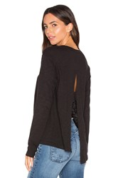 Wilt Long Sleeve Open Back Top Black
