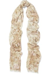 Aerin Printed Modal And Silk Blend Scarf Beige