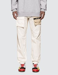 Palm Angels Twotone Cosy Pants White