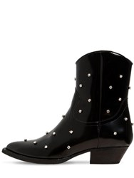Chiara Ferragni 40Mm Embellished Faux Leather Boots Black