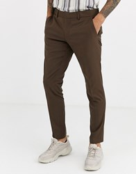 Esprit Slim Fit Suit Trouser In Tan
