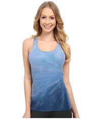 Hard Tail X Back Relay Tank Top Side Circle Women's Sleeveless Blue