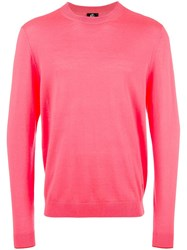 Paul Smith Ps By Round Neck Jumper Pink Purple