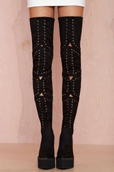 Nasty Gal Jeffrey Campbell Notorious Suede Thigh High Boot