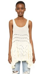 Free People Voile And Lace Trapeze Tank Tea
