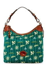Dooney And Bourke Athletics Nylon Large Erica Hobo Green