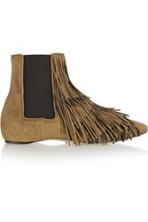 Daniele Michetti Jubei Fringed Suede Chelsea Boots Brown
