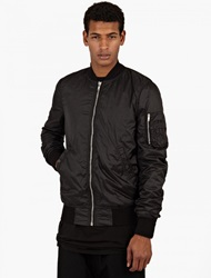 Rick Owens Black Nylon Flight Jacket