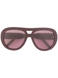 Tod's Leather Infilature Detailing Sunglasses Pink