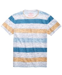 American Rag Heathered Striped T Shirt Bright Whi