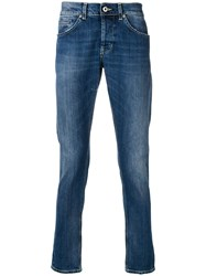 Dondup Regular Mid Rise Jeans Blue