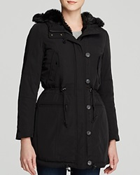Marc New York Dee Parka With Faux Fur Lining Black