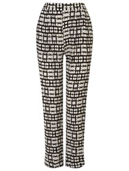 Phase Eight Justyne Print Trousers Black Stone