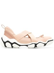 Red Valentino V Ankle Tie Sneakers Neutrals
