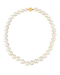 Belpearl 14K Graduated Cream Freshwater Pearl Necklace
