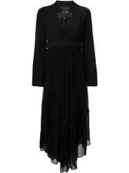 Jay Ahr Rope Detail Handkerchief Dress Black