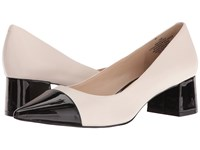 Nine West Dalzell Ivory Leather Black Synthetic Women's Shoes Pink