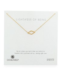 Lightness Of Being Diamond Shaped Pendant Necklace Dogeared Gold
