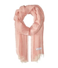 Love Quotes Linen Cotton Solid Blush Scarves Pink