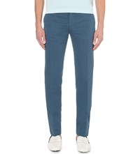 Slowear Slim Fit Linen Blend Trousers Ink