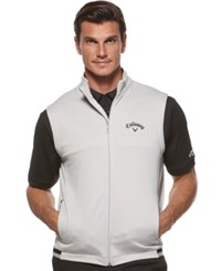 Callaway Big And Tall Men's Golf Performance Full Zip Fleece Vest