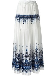 Sacai Tribal Lace Maxi Skirt White