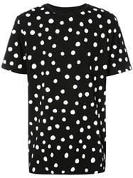 Stampd Dots Print T Shirt Women Cotton Xl Black