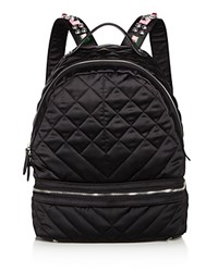 Sam Edelman Penelope Quilted Nylon Backpack Black Multi Silver