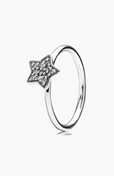 Pandora Design Pave Star Ring Silver Clear