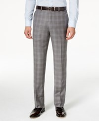 Shaquille O'neal Collection Shaquille O'neill Collection Men's Classic Fit Blue And Grey Glen Plaid Dress Pants Grey Blue