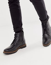 Base London Callahan Lace Up Boots In Black