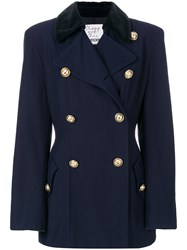 Moschino Vintage Double Breasted Jacket Blue