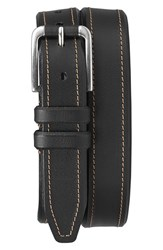 Men's Trask 'Gibson' American Steer Leather Belt Black