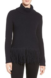 Michael Michael Kors Women's Fringe Turtleneck Sweater