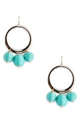 Sole Society Hoop Earrings Teal
