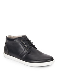Joe's Jeans Leather Chukka Sneakers Black