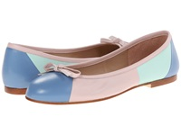 French Sole Neptune Wedgewood Aqua Pale Pink Nappa Women's Flat Shoes Multi