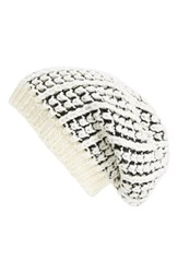Women's Sole Society Mixed Knit Oversize Beanie