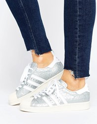 Adidas Superstar 80S Trainers Msilve Ftwwht Silver