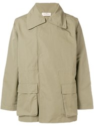 The White Briefs Concealed Front Parka Green