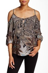 Voom By Joy Han Lyssa Blouse Gray