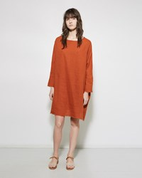 Black Crane Painter Linen Dress