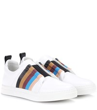 Pierre Hardy Slider Leather Sneakers White